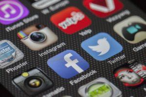 social media accounts icons